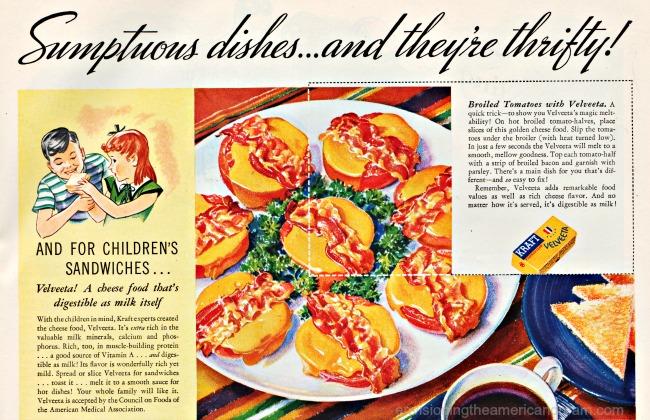 Vintage ad Velveeta Cheese 1936