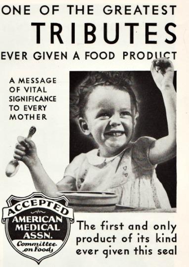 vintage ad 1934 child and food