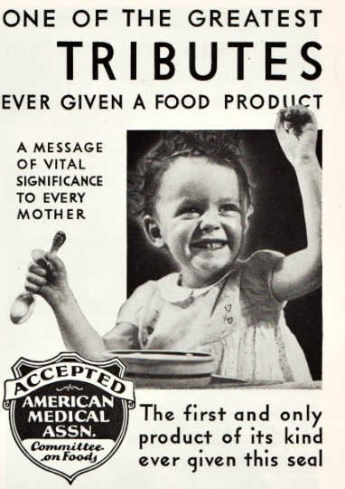 vintage ad 1934 child and food