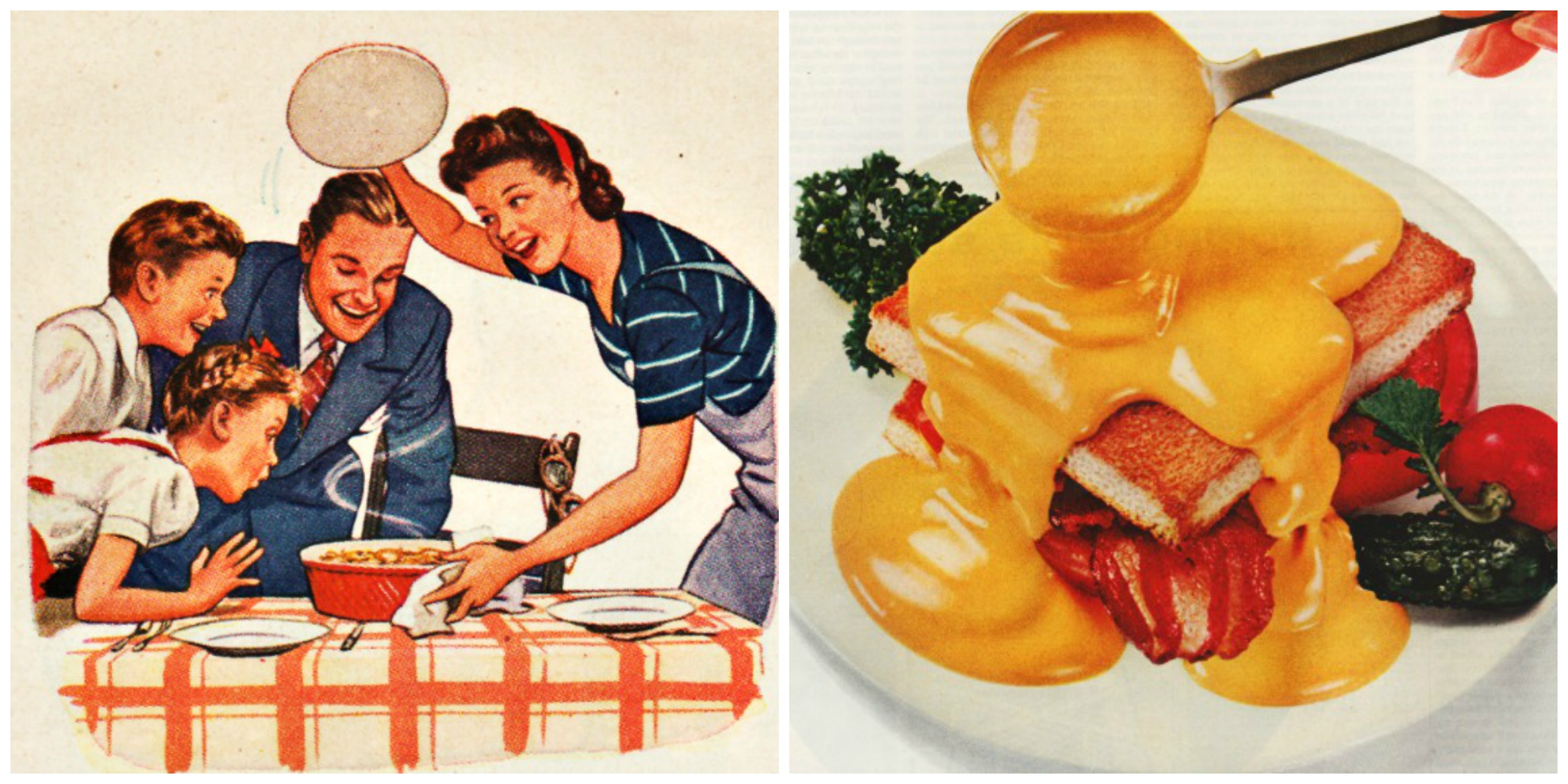 Viva velveeta dependable dishes for the depression for Cuisine retro 50 s