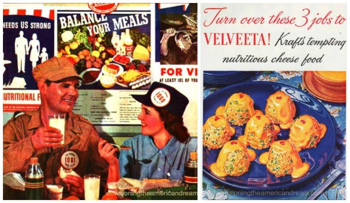 food Velveeta WWII war workers eating