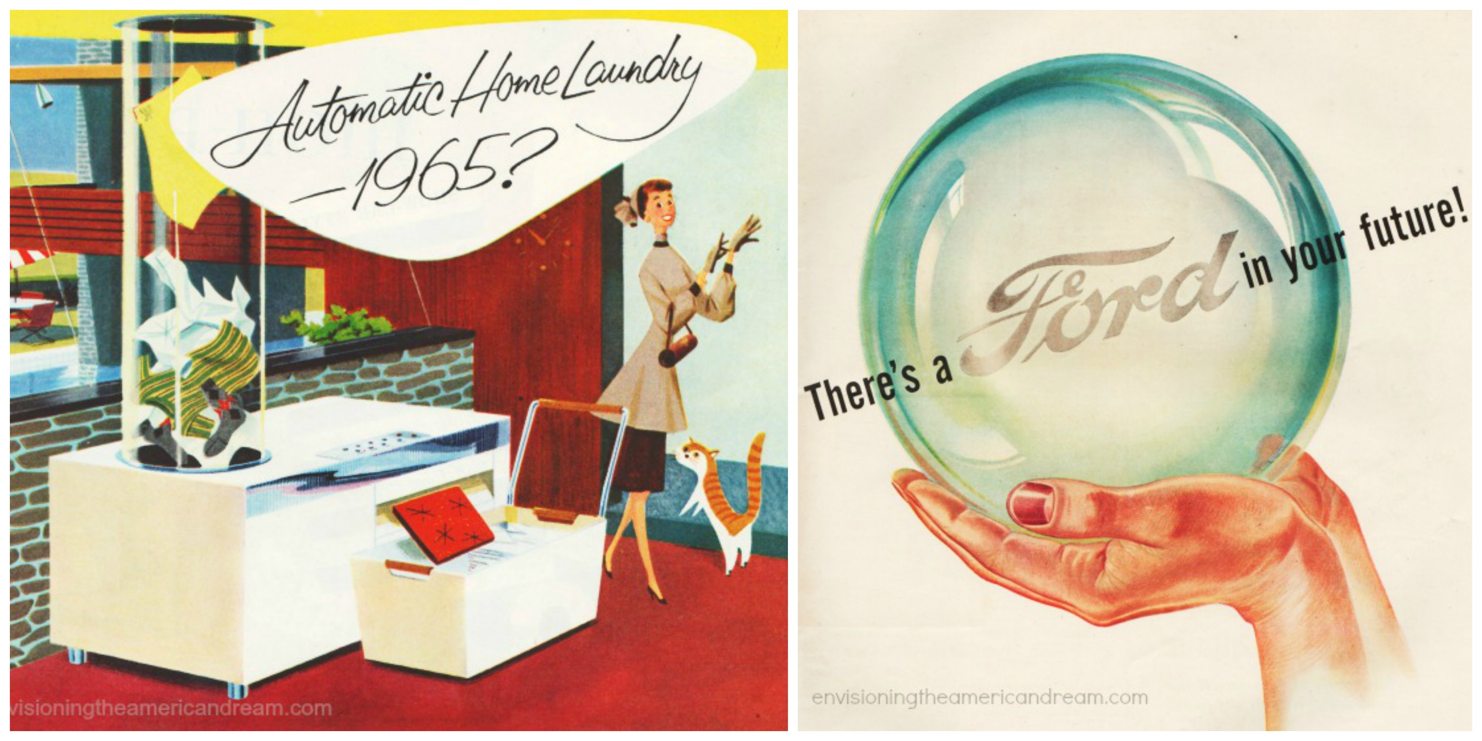 Future predictions vintage ads 1950s