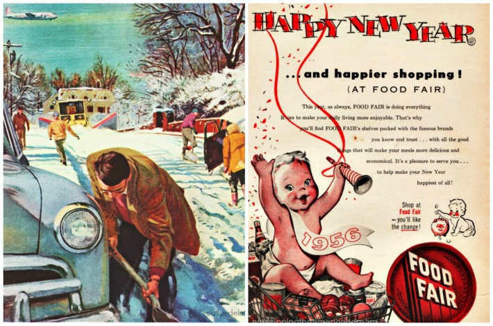 New year Snow storm 1956