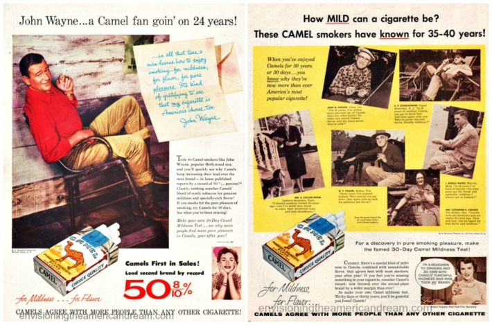 smoking camels john wayne 30 years