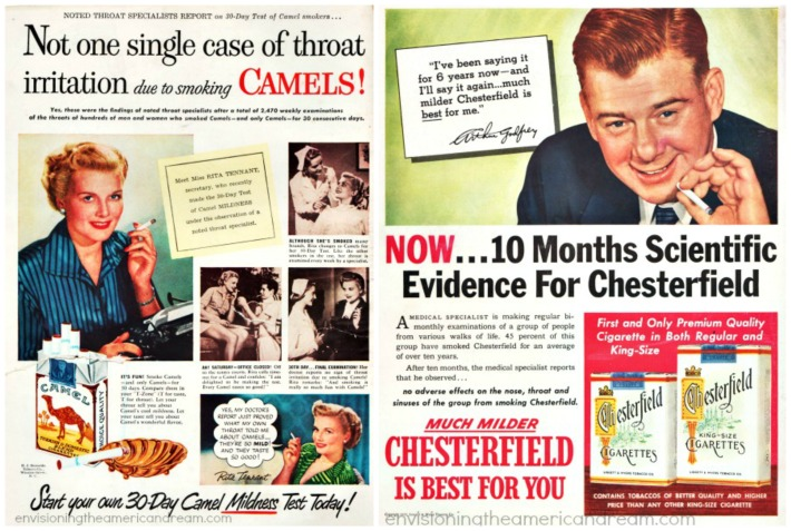 Vintage Chesterfield Cigarette Ads 1950s Arthur Godfrey