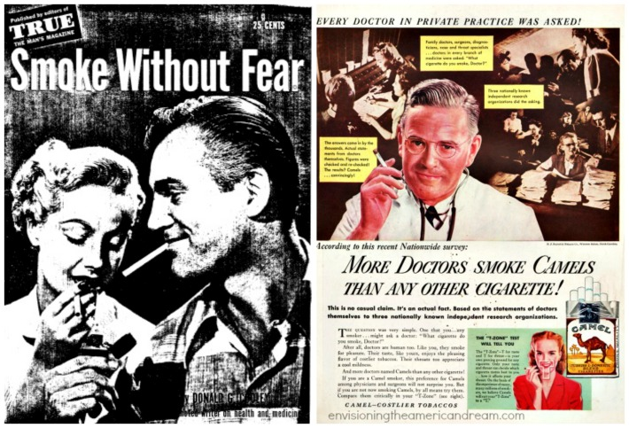 Smoke Without Fear Book vintage ad doctor smoking