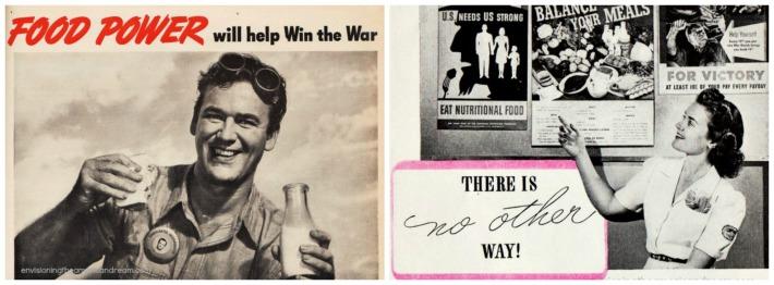 WWII Vintage Nutrition propaganda