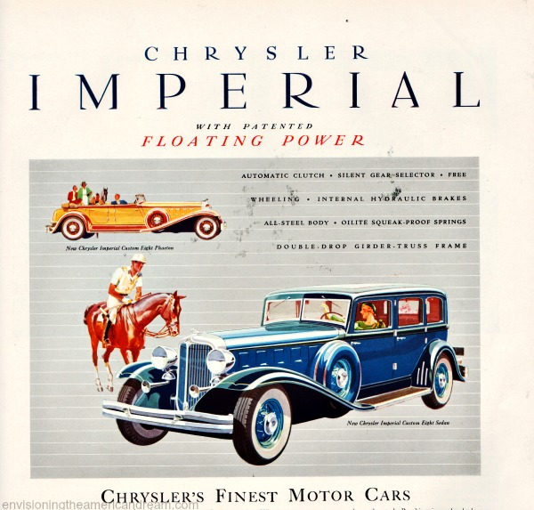 Vintage Chrysler Imperial advertisement 1930