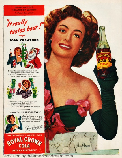 movie star  Joan Crawford 1944  RC Cola ad