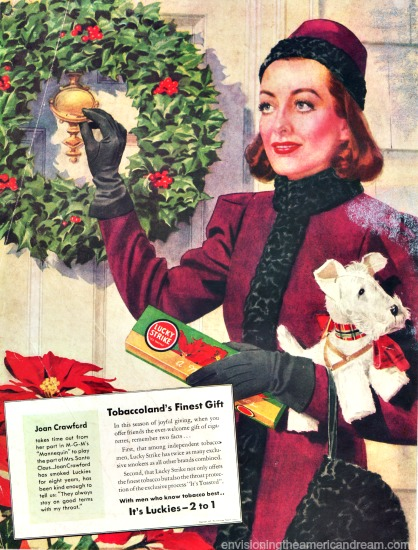 Movie Star Joan Crawford Lucky Strikes ad 1937