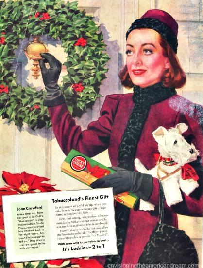Movie Star Joan Crawford Lucky Strikes ad 1937