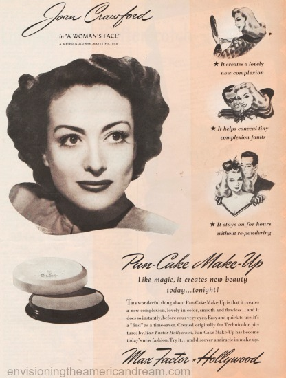 Movie Star Joan Crawford Max factor ad 1941