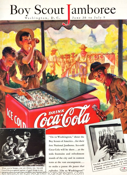 vintage coke ad illustation  Boy scouts