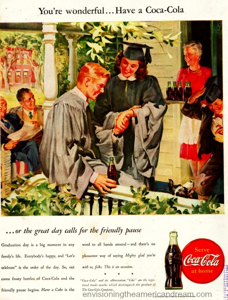 vintage coke ad illustration graduates