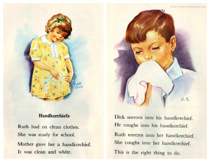 health handkerchief childrens book illustration