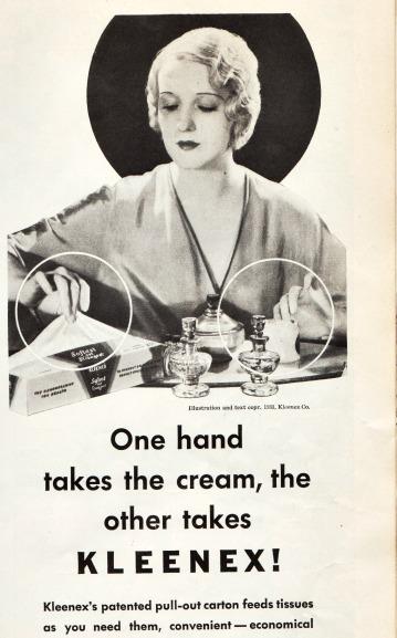 Vintage Kleenex Ad 1930