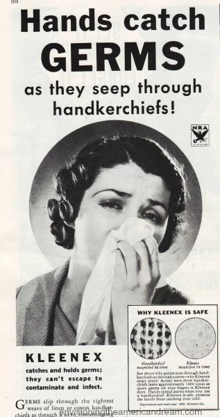 Vintage kleenex ad 1933