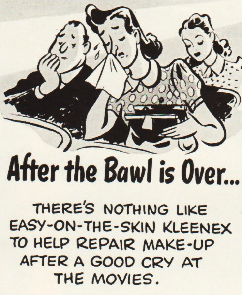 Vintage Kleenex Ad 1940 cartoon