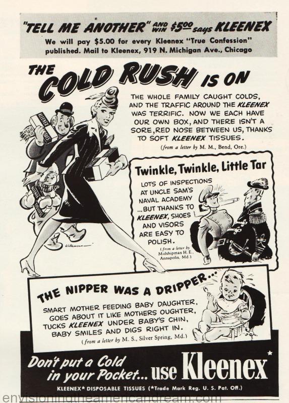 Vintage Kleenex Ad 1941
