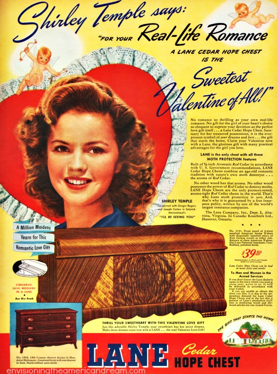 lane Hope Chest ad Shirley Temple