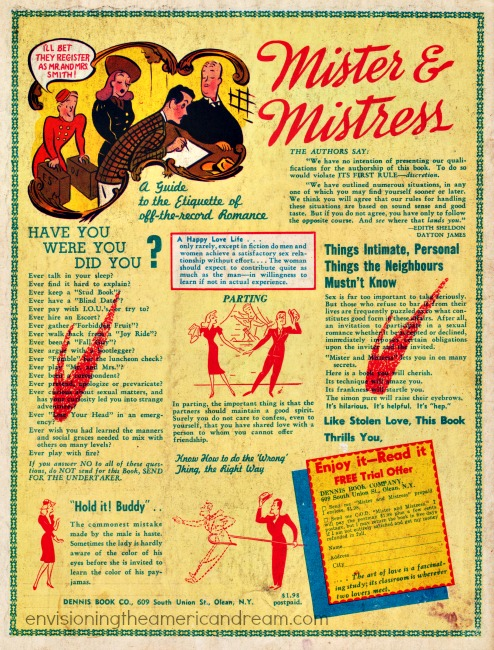 vintage ad sex manual 1940s