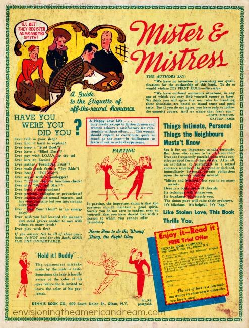 vintage ad sex manual 1940s