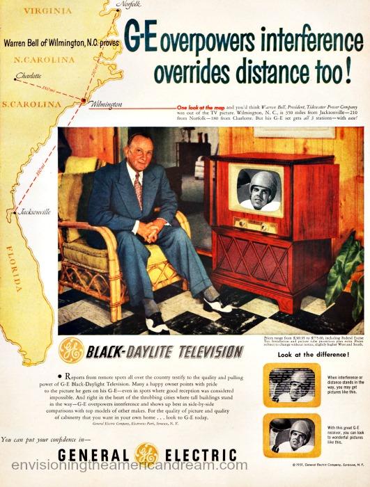 Vintage ad GE Television 1951 Football Fantasy
