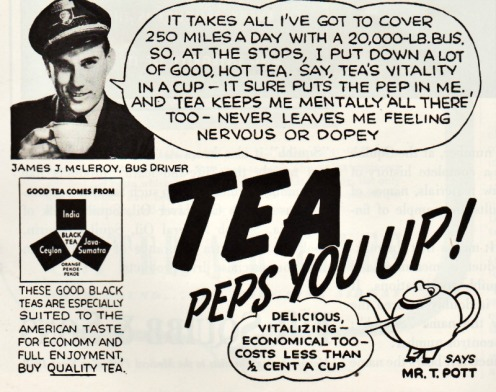 Vintage Ad for Tea 1940