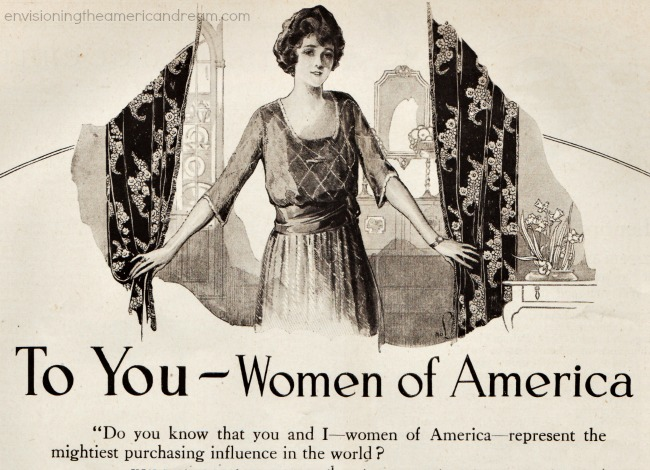Vintage illustration ad woman