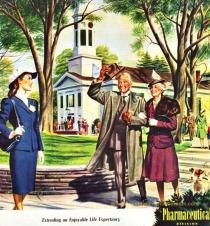 vintage illustration seniors