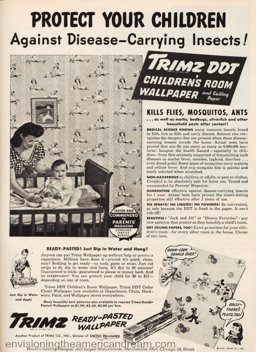 Vintage Ad Trimz Wallpaper with DDT
