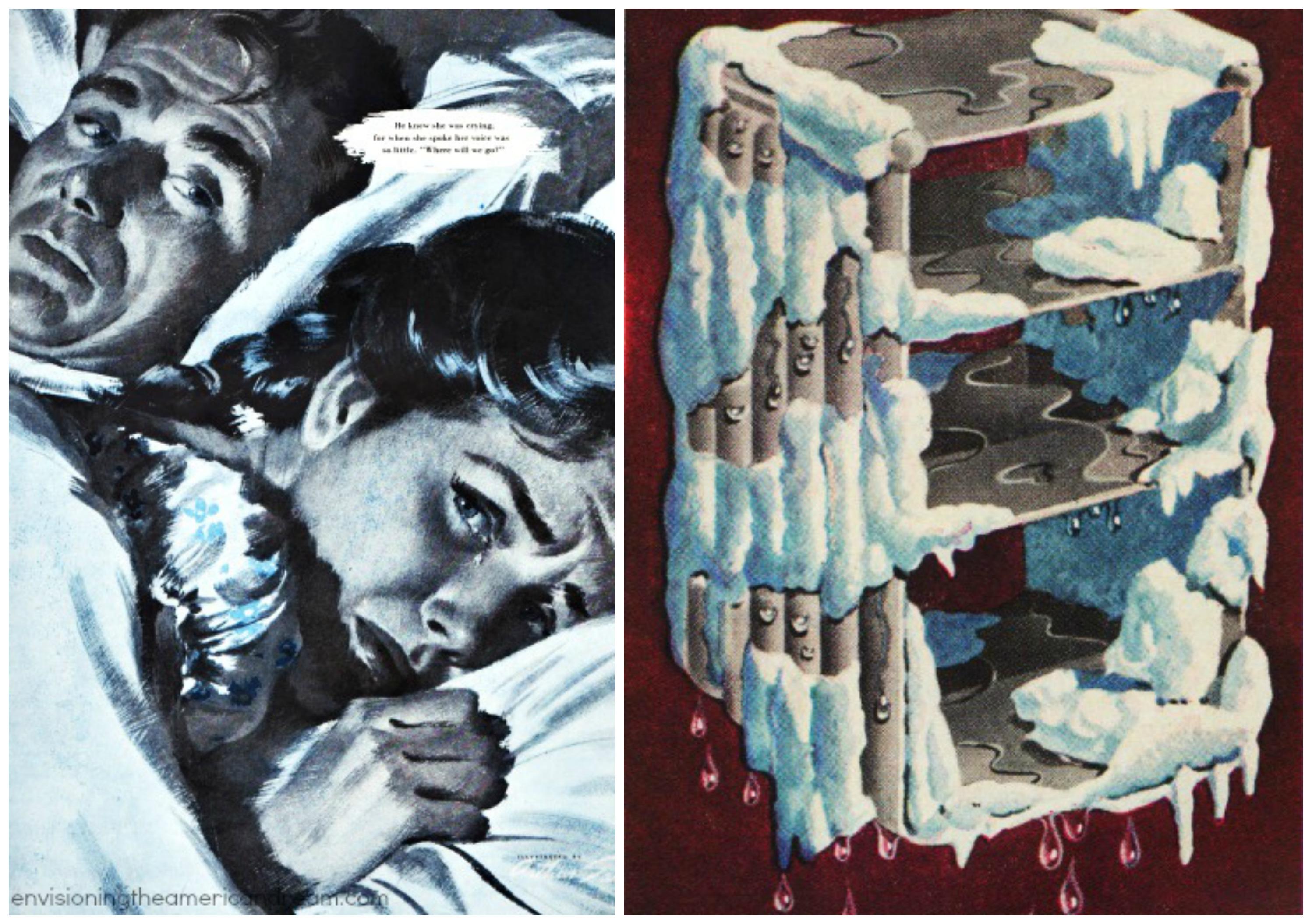 Vintage Illustration Frigid Housewife Cold War Freezer
