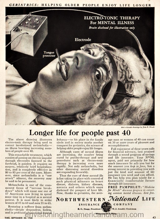 vintage ad for electro shock therapy