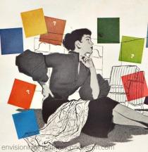 illustration woman decorating