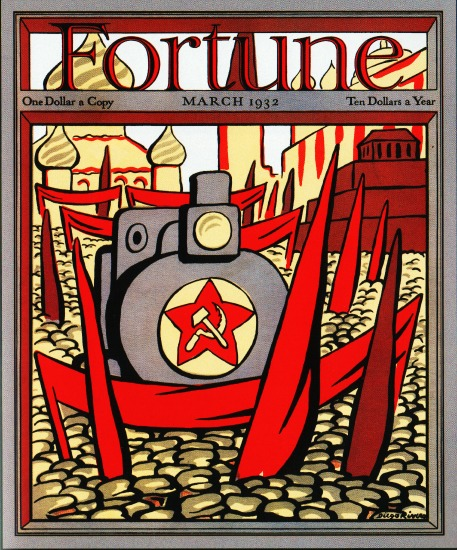 cover 1932 Fortune Magazine by Diego Rivera Soviet Union