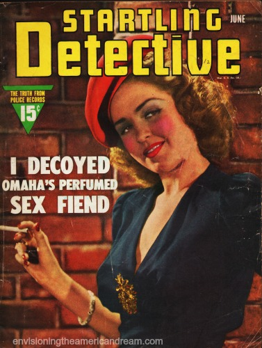 "Vintage magazine cover Stratling Detective photo of ""loose woman"""