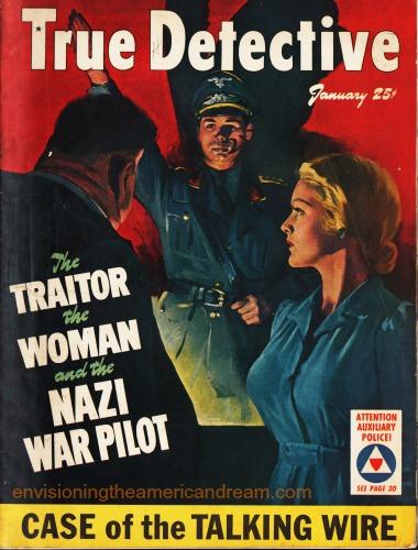 pulp true detective magazine WWII illustration interogation Nazi