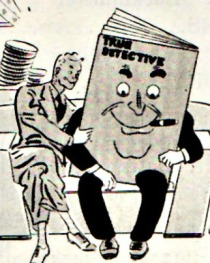 vintage cartoon True Detective Magazine