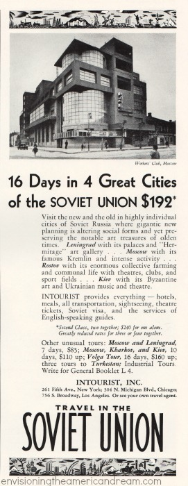 soviet union travel ad 1932