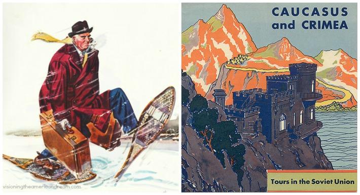 travel poster vintage soviet union