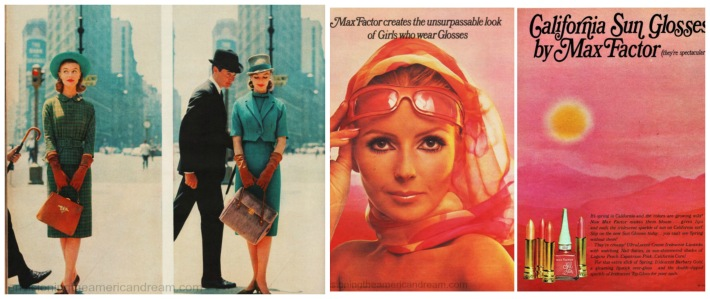1969 Mad Men NYC California Dreaming vintage ad make up