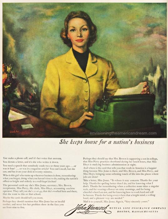 vintage illustration Business secretary typewriter