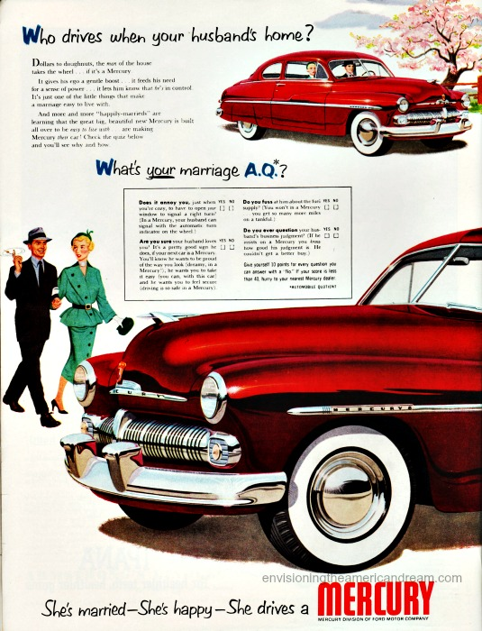 cars women sexist ad 1950