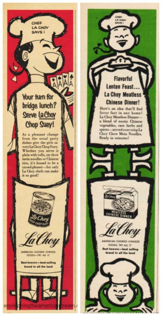 Food Chinese la Choy ads illustration chinese chefs