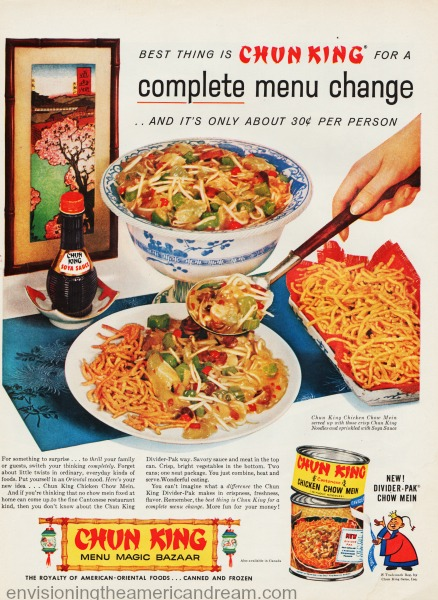 Food chinese Chun King ad vintage 1950s
