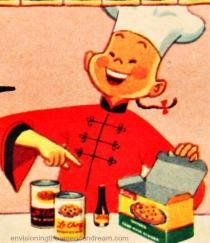 vintage illustration chinese chef