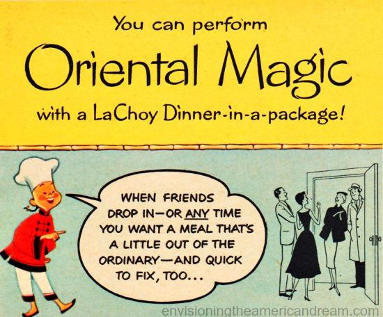 vintage chinese food ad  la choy 1955