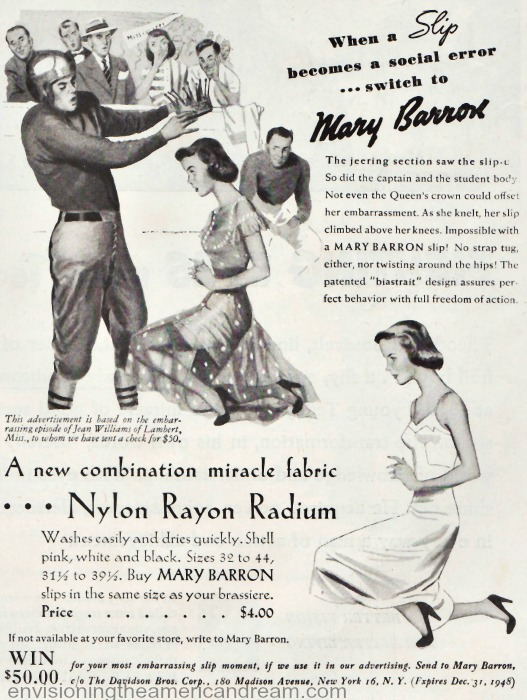 Lingerie ad slips Mary Barron 48