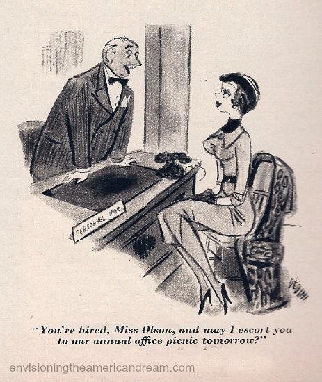 sexist office cartoon