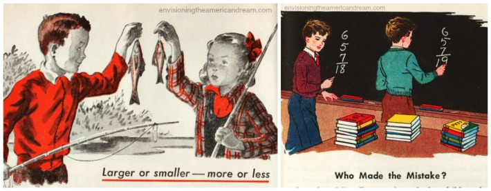 vintage schoolbooks illustrations
